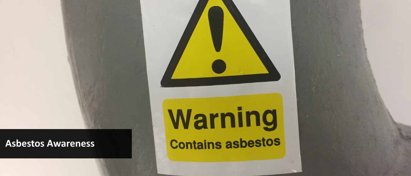 Asbestos flue pipe with absestos warning label
